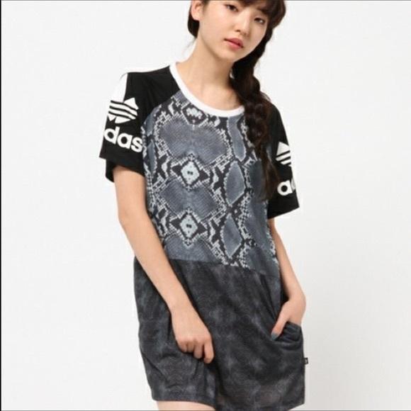 adidas snake print dress